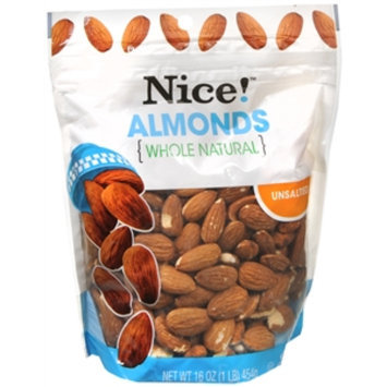 Nice! Almonds, Natural, 16 oz