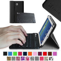 Fintie Samsung Galaxy Tab 3 7.0 Wireless Bluetooth Keyboard Case - Ultra Slim Shell Lightweight Stand Cover, Black