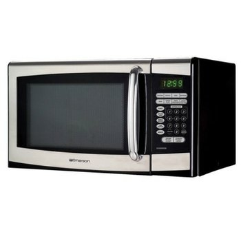 Emerson 0.9 Cu. Ft. 900 Watt Stainless Steel Microwave Oven
