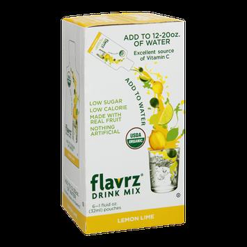 Flavrz Lemon Lime Organic Drink Mix Pouches - 6 CT