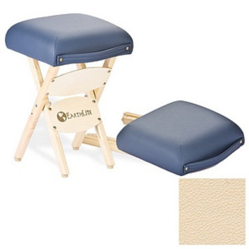 Earthlite Folding Stool, Marie's Beige, 1 ea