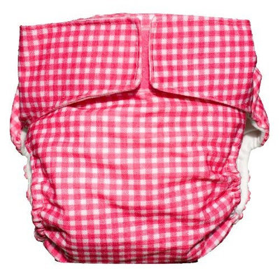 CuteyBaby Modern Cloth Diaper (Pink Gingham)