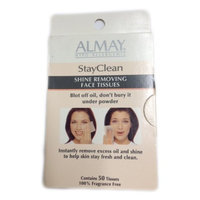 Almay Hypo-Allergenic Stay Clean Shine Removing Face Tissues Pack