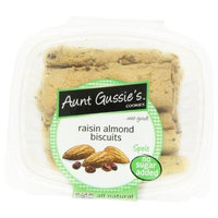 Aunt Gussie's No Sugar Added Raisin Almond Biscotti, 8-Ounce Tubs (Pack of 4)