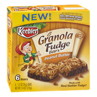 Keebler Granola Fudge Bars Peanut Butter