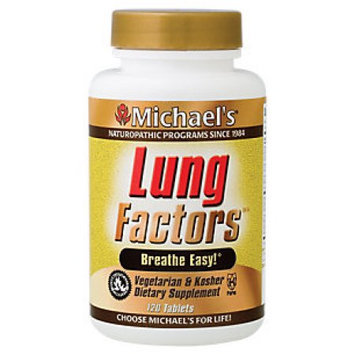 Michael's Health Products Michael's Naturopathic Programs - Lung Factors - 120 Vegetarian Tablets