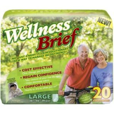 12 Hours Adult Incontinence Wellness Briefs- XLarge