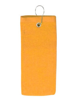 Pds Online 100% Cotton Terry Sports Golf Towel with Grommet and Hook Gold2101