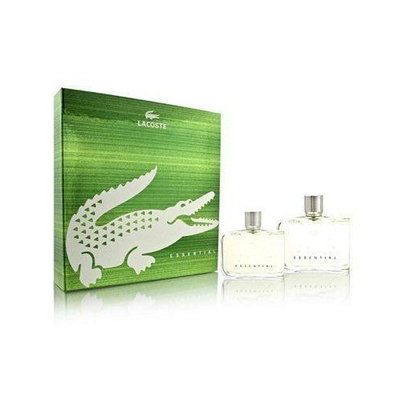 Lacoste Essential by Lacoste for Men 2 Piece Set Includes: 4.2 oz Eau de Toilette Spray + 2.5 oz After Shave Pour