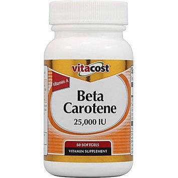 Vitacost Brand Vitacost Beta Carotene -- 25000 IU - 60 Softgels