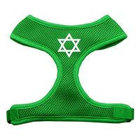 Mirage Pet Products 7026 LGEG Star of David Screen Print Soft Mesh Harness Emerald Green Large