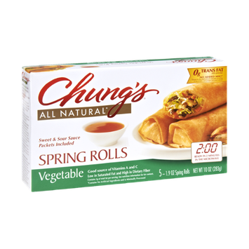 Chung's Vegetable Spring Rolls - 5 CT