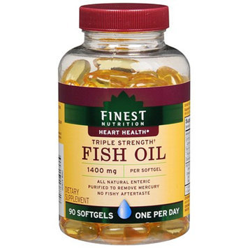 Finest Nutrition Fish Oil 1400 mg Dietary Supplement Softgels Triple Strength