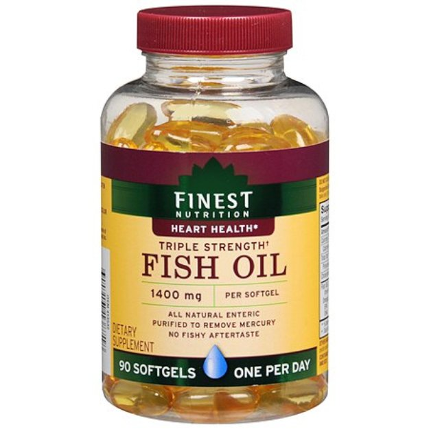Finest nutrition fish oil 1400 mg dietary supplement for How many mg of fish oil per day