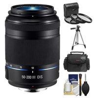 Samsung 50-200mm f/4.0-5.6 NX ED OIS III Telephoto Zoom Lens (Black) with 3 UV/CPL/ND8 Filters + Case + Tripod Kit for Galaxy NX, NX30, NX210, NX300, NX1100, NX2000 Cameras