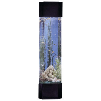 Midwest Tropical Pentagon Aqua Tower 30 Gallon Aquarium Set