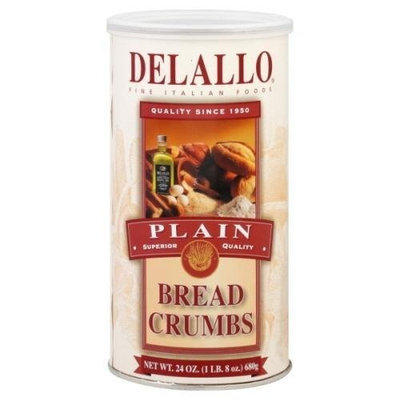 DeLallo Breadcrumbs, Plain, 24-ounces (Pack of6)
