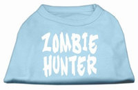 Mirage Pet Products 51-99 SMBBL Zombie Hunter Screen Print Shirt Baby Blue S - 10
