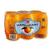 Sanpellegrino All Natural Aranciata Italian Sparkling Orange Beverage - 6 CT