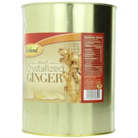 Roland Sliced Crystallized Ginger, 6-Pounds Can