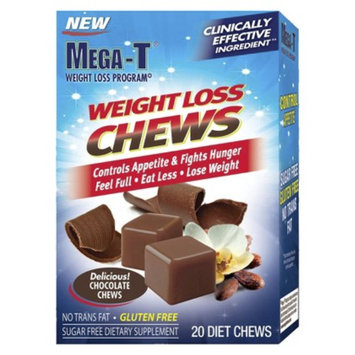 Mega-T Weight Loss Sugar Free Chocolate Chews - 20 Count