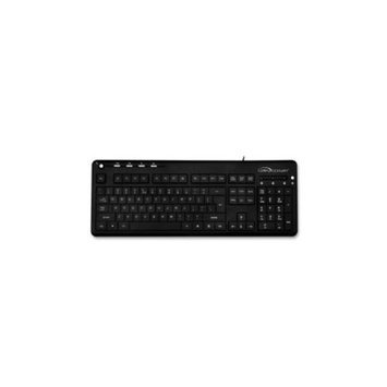 Compucessory COMPUCESSORY Corded Keyboard, 18-5/8x7-1/2x1-1/3, Black