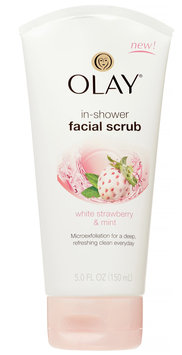 Olay White Strawberry & Mint In-shower Facial Scrub