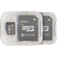 CENTON Centon MP Essential 16GB Class 4 microSDHC Card, 2pk
