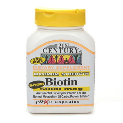 21st Century Biotin 5000 mcg High-Potency