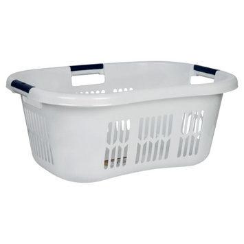 Rubbermaid Laundry Basket, Hip Hugger, WhtRB, 1 basket