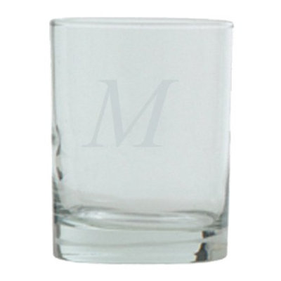 T&C Innovators Block Monogram Double Old Fashioned Set of 4 - M