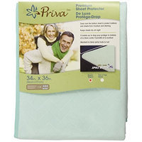 Priva Premium Absorbent 300 Washes Waterproof Sheet Protector with Ultra-Dry Surface, Mint, 34 by 36-Inch