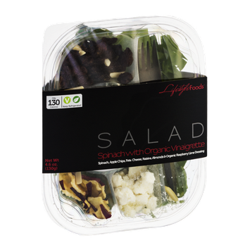 Lifestyle Foods Salad Spinach with Organic Vinaigrette