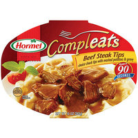 Hormel : Beef Steak Tips W/Mashed Potatoes & Gravy Compleats Microwave Bowls