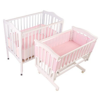 BreathableBaby Portable Crib & Cradle Liner - Pink