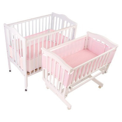 BreathableBaby Portable Crib & Cradle Liner - Pink