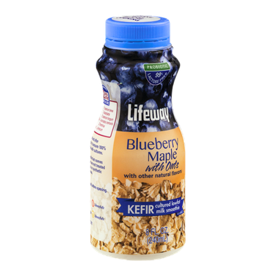 Lifeway Kefir Cultured Lowfat Milk Smoothie Blueberry Maple With Oats
