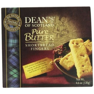 Brands of Britain Dean's of Scotland Pure Butter Shortbread Fingers, 4.6 oz 6 count (Pack of 5)