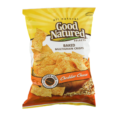 Good Natured Selects All Natural Baked Multigrain Crisps Cheddar Cheese