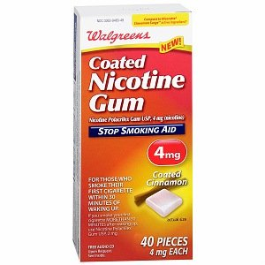 Walgreens 4 mg Stop Smoking Aid Coated Nicotine Gum