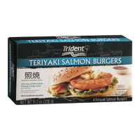 Trident Seafoods Teriyaki Salmon Burgers - 4 CT