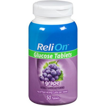 Wal-mart Store, Inc. ReliOn(tm) Grape Glucose Tablets, 50 count