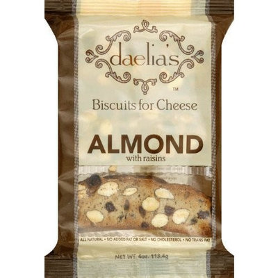 Daelia's Biscuits for Cheese Almond with Raisins, 4-Ounce (Pack of 4)