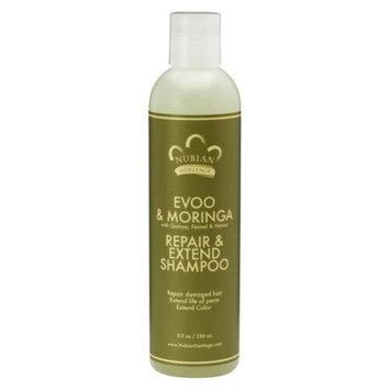 Nubian Heritage EVOO & Moringa Repair and Extend Shampoo - 8 fl oz