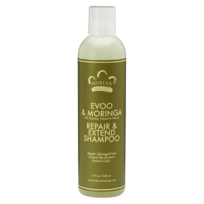 Nubian Heritage EVOO & Moringa Repair and Extend Shampoo - 8 fl oz