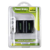 DreamGear Xbox 360(TM) Power Brick Rechargeable Twin Battery Pack - Black