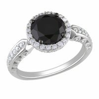 Amour Silver Cubic Zirconia Ring, Silver, Black, White, 5, 1 ea