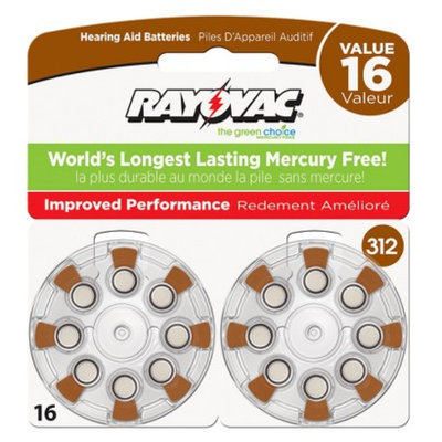 Spectrum Rayovac Size 312 16-pk. Hearing Aid Batteries