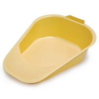 Mabis Dmi Healthcare Fracture Bed Pan, Yellow, 50-Count Pack