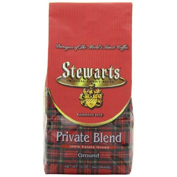 Stewarts Stewart's Coffee Private Blend Ground Bag, 12-Ounce (Pack of 3)